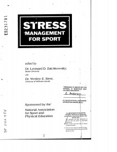 Stress management with elite athletes